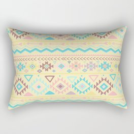 Abstract burgundy pink teal yellow aztec tribal pattern Rectangular Pillow