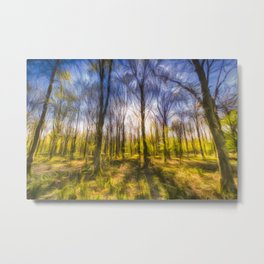 Turner Storms Forest Art Metal Print