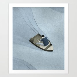 Rowing Art Print