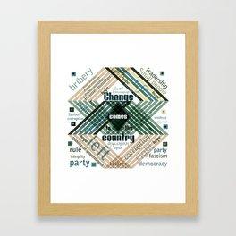 Time to change Framed Art Print