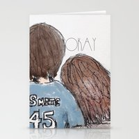 fault in our stars Stationery Cards featuring The Fault in Our Stars by Natasha Ramon