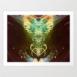 Satyrical Electricity Art Print
