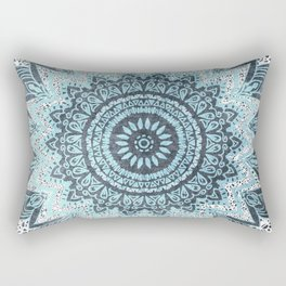 BOHOCHIC MANDALA IN BLUE Rectangular Pillow