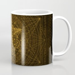 Dark Matter - Gold - By Aeonic Art Coffee Mug