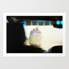 on the road::kenya Art Print
