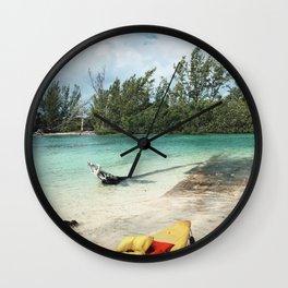 Kayaking in Paradise Wall Clock