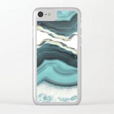 Sea Agate Clear iPhone Case