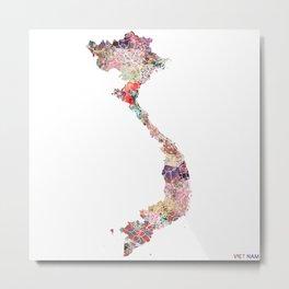 Vietnam map Metal Print