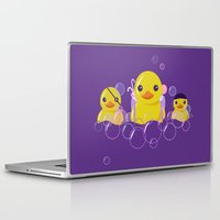 bathroom Laptop & iPad Skins featuring DANGERS OF THE BATHROOM by ketizoloto