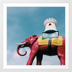 Elephant and Castle Art Print