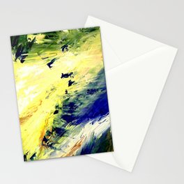 Abstract Yellow Dancer by Robert S. Lee Stationery Cards