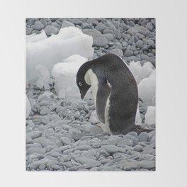 Adelie Penguin Throw Blanket