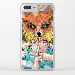 Naruto Abstract Clear iPhone Case