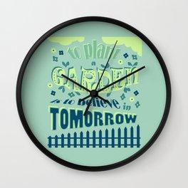Plant a Garden Ver.1 #society6 #decor #buyart Wall Clock