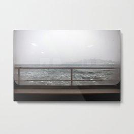 Ship in Mist Metal Print