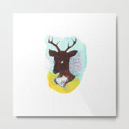 The Painterly Deer Metal Print