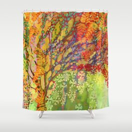 Immersed in Summer Shower Curtain