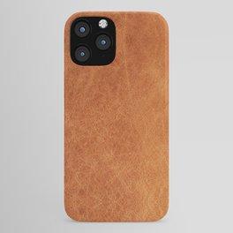 Farmhouse Style Original Camel Leather Oriental Design. iPhone Case