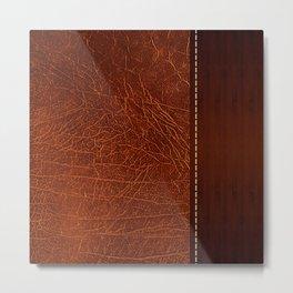 Brown leather look #2 Metal Print