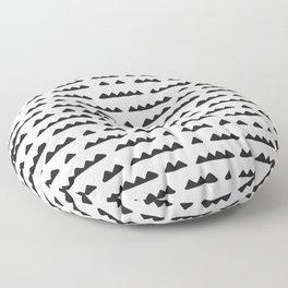Hand Drawn Pyramids Floor Pillow