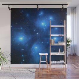 "The Pleiades (""The Seven Sisters"") (NASA/ESA/Palomar Observatory) Wall Mural"