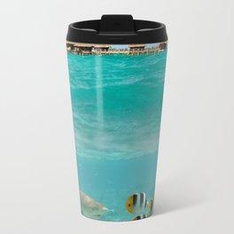 Diving with sharks on Bora Bora Travel Mug