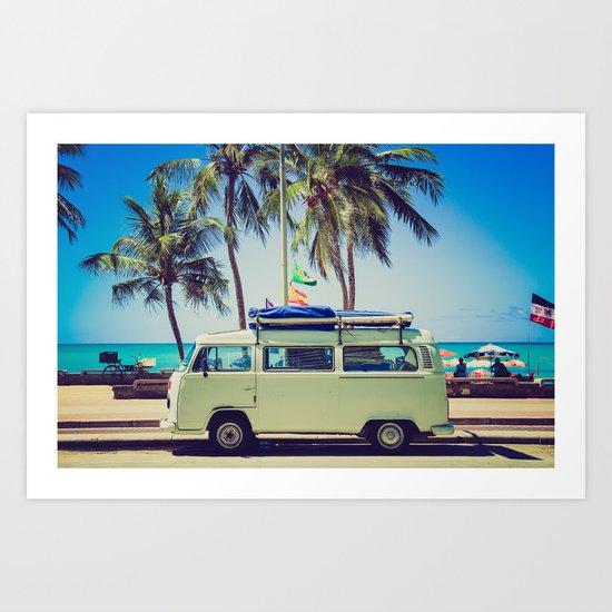 Camper beach 5 Art Print