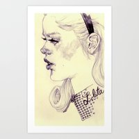 lolita Art Prints featuring lolita by adria mercuri