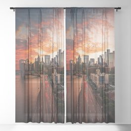 NEW YORK CITY IX Sheer Curtain