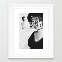 inner demons Framed Art Prints featuring Inner Demons by Tyler Spangler