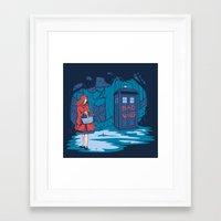 hallion Framed Art Prints featuring Big Bad Wolf by Karen Hallion Illustrations