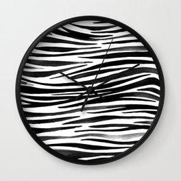 Pandanus Bark - Black Wall Clock