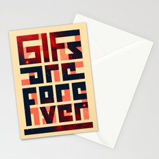 GIFs are forever Stationery Cards