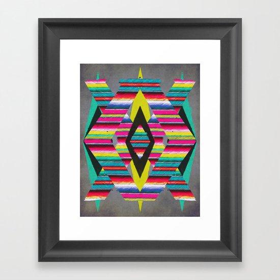 Serape Framed Art Print