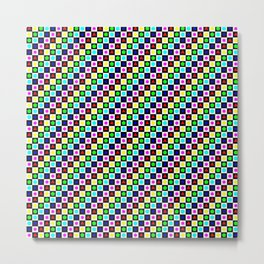 Regular Polygons on Chessboard 36x36 Metal Print