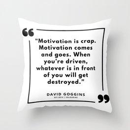 66  | David Goggins Quotes | 190901 Throw Pillow