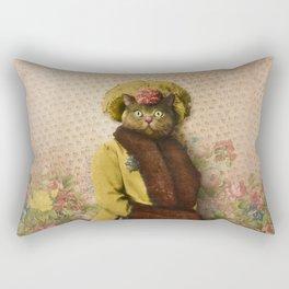 Lady Vanderkat with Roses Rectangular Pillow