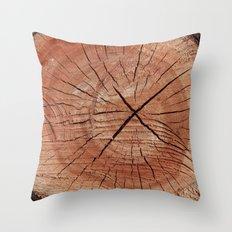 Oak Wood Grain Throw Pillow
