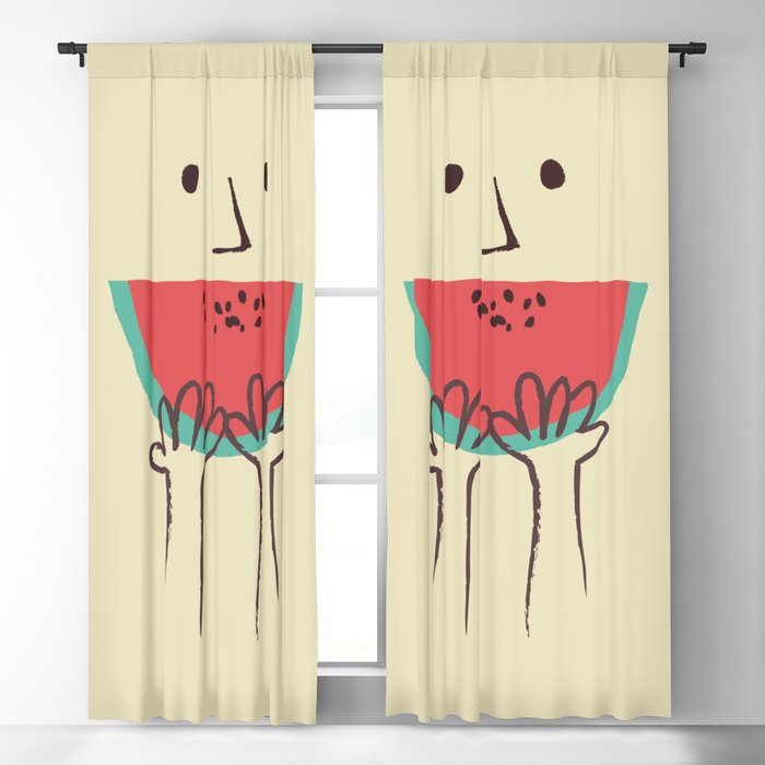 Summer smile Blackout Curtain