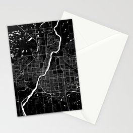 Saskatoon - Minimalist City Map Stationery Cards