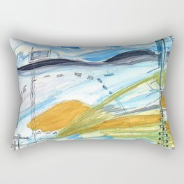architectural landscape Rectangular Pillow