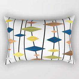 Retro Atomic Age Art Diamonds 1 Rectangular Pillow