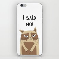grumpy iPhone & iPod Skins featuring Grumpy by Adrian Serghie