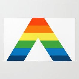 LGBT ALLY Rainbow Gay Pride Flag Rug