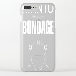 Hydrogen Bondage Clear iPhone Case