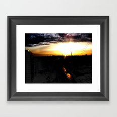 Fire in the sky(1) Framed Art Print