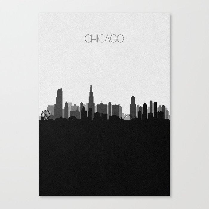 City Skylines: Chicago (Alternative) Leinwanddruck