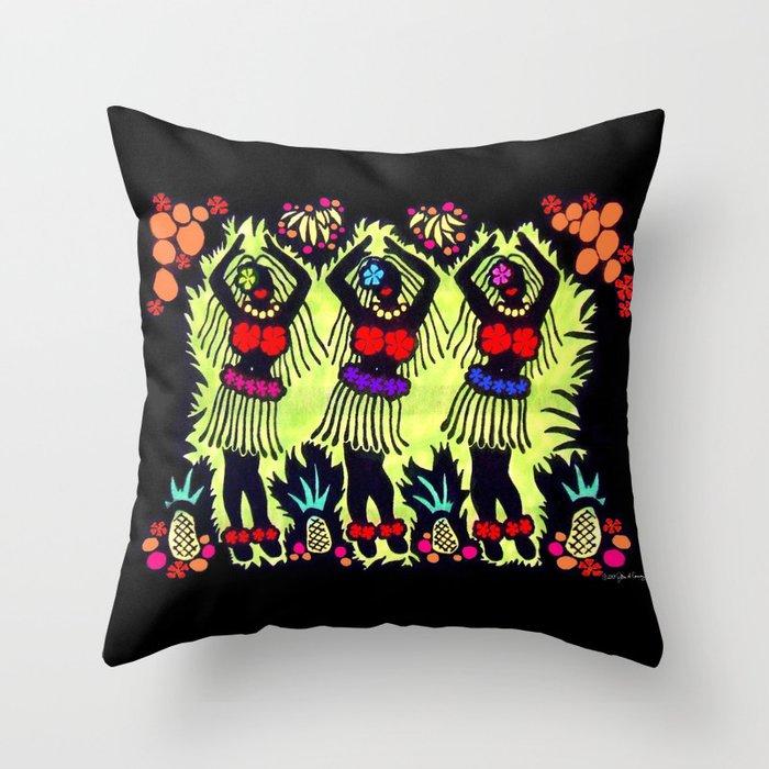 Hula Dancers Throw Pillow