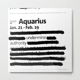 Aquarius 1 Metal Print