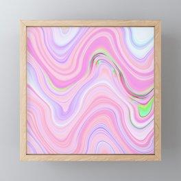 Pastel Pink & Violet Lava Marble Framed Mini Art Print